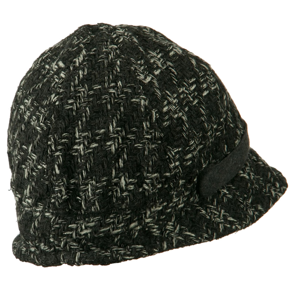 Lucy Wool Panel Cloche Hat - Grey White - Hats and Caps Online Shop - Hip Head Gear