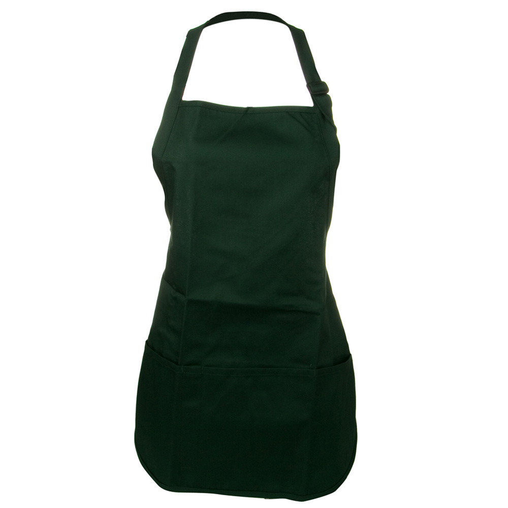 Soil Release Easy Care Mid Length Apron - Hunter Green