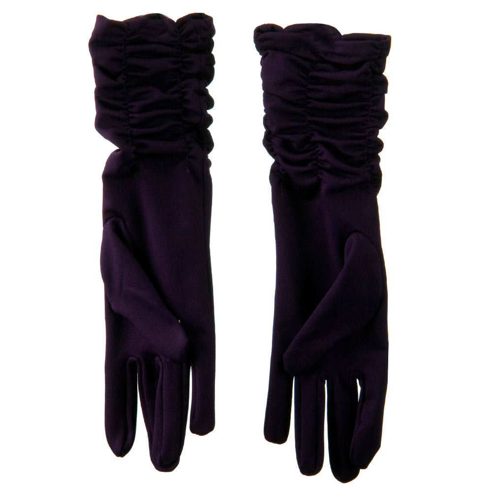 Mid Arm Length Shiny Glove - Purple