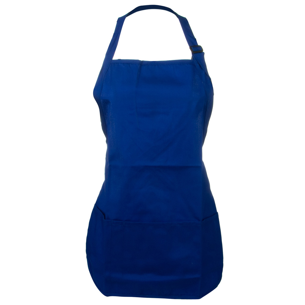 Soil Release Easy Care Mid Length Apron - Royal