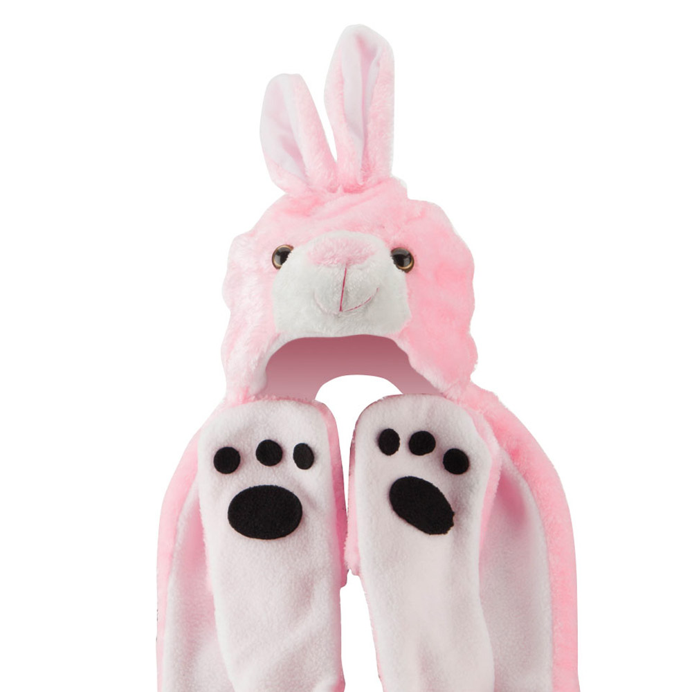ML Animal Costume Hat with Mittens - Pink Rabbit - Hats and Caps Online Shop - Hip Head Gear