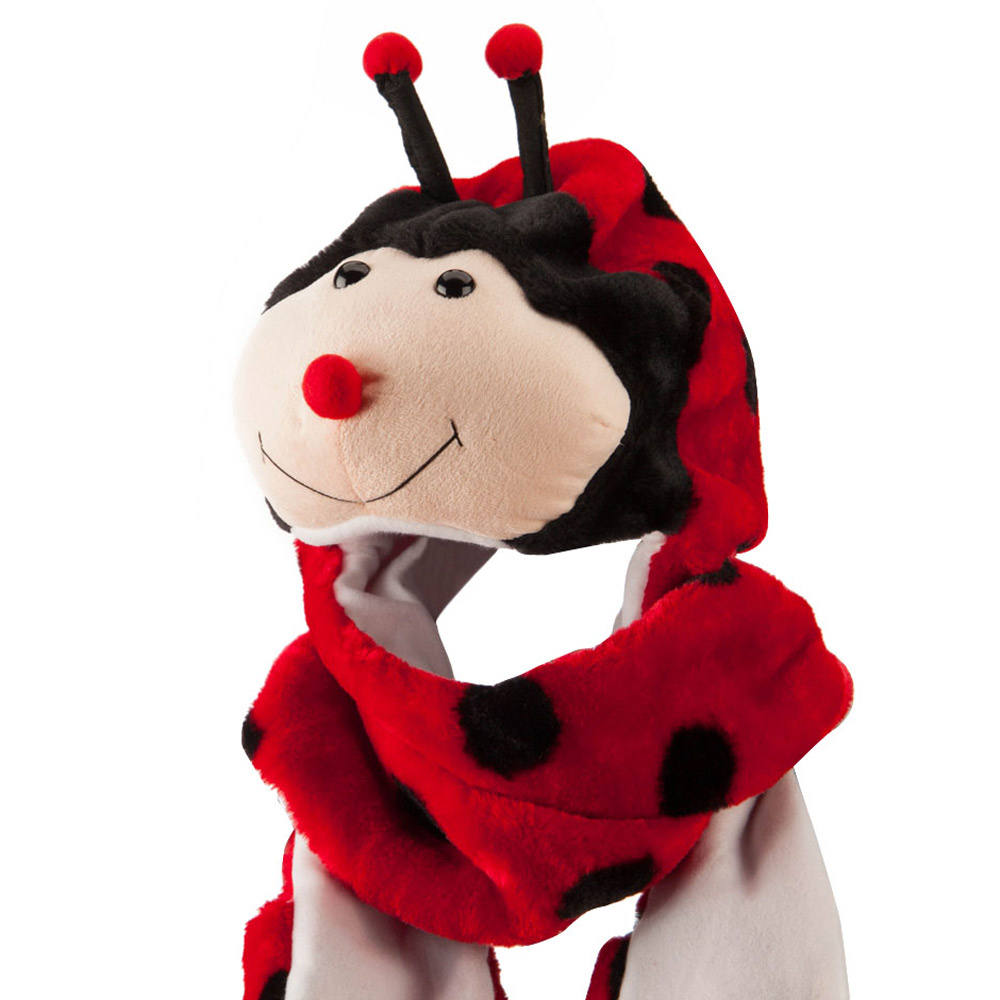ML Animal Costume Hat with Mittens - Lady Bug - Hats and Caps Online Shop - Hip Head Gear