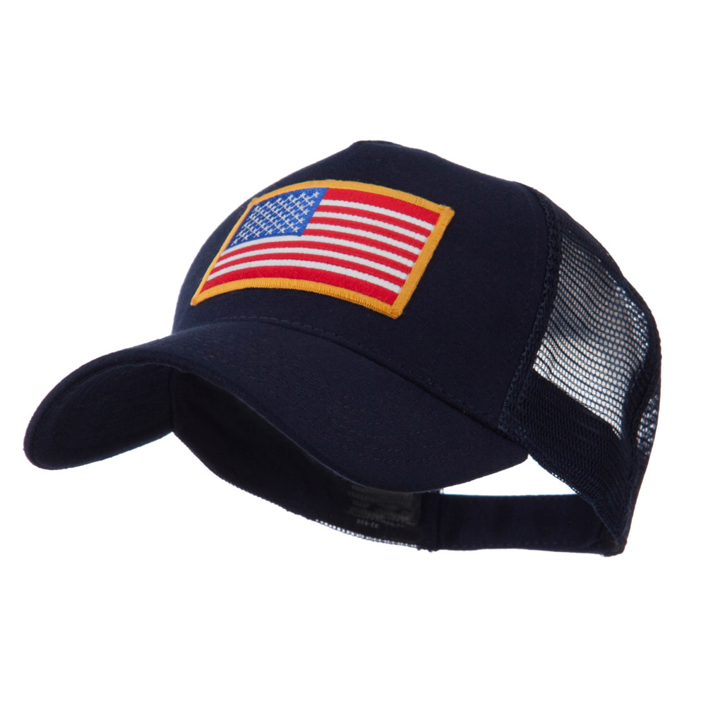 5 Panel Mesh American Flag Patch Cap - Navy - Hats and Caps Online Shop - Hip Head Gear