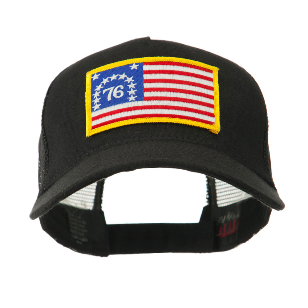 5 Panel Mesh American Flag Patch Cap - 76 Flag - Hats and Caps Online Shop - Hip Head Gear