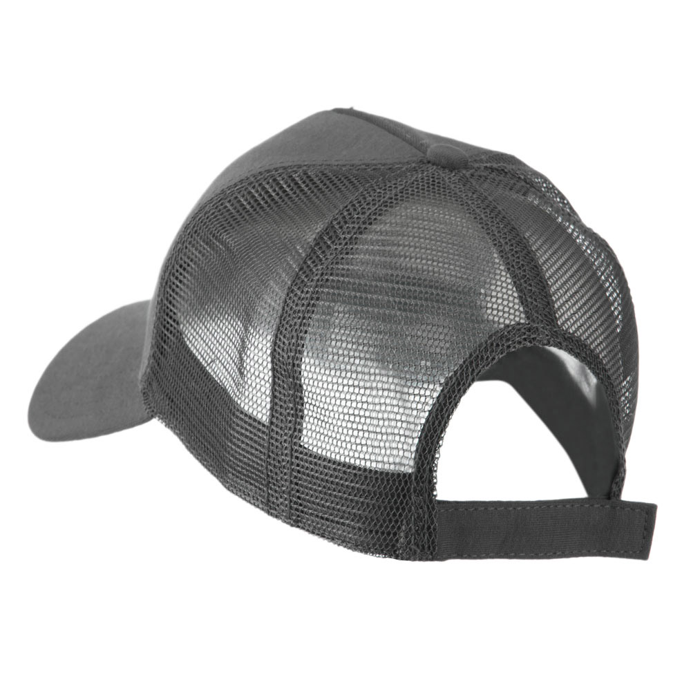 a82f8938e39 5 Panel Mesh American Flag Patch Cap - Grey