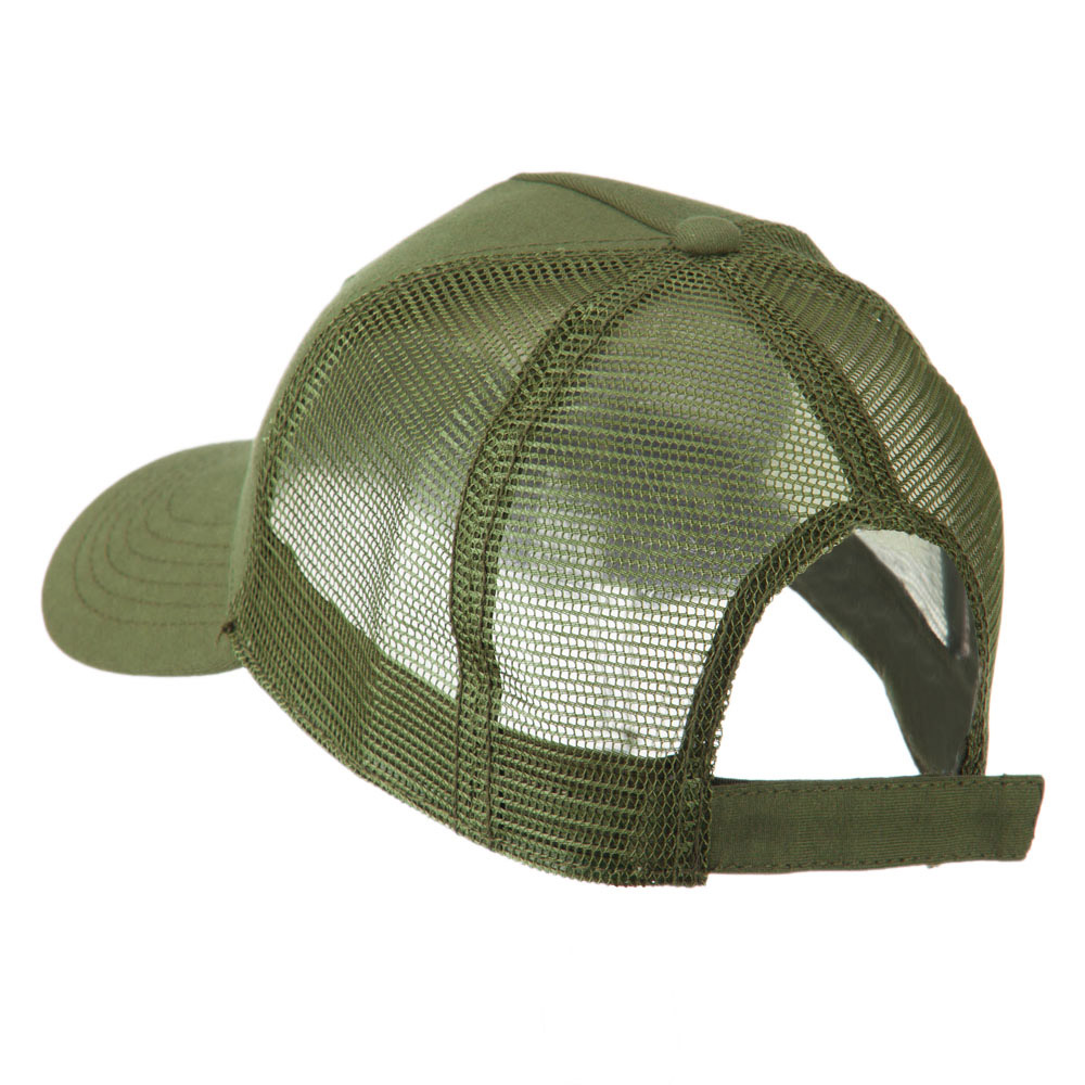 5 Panel Mesh American Flag Patch Cap - Olive - Hats and Caps Online Shop - Hip Head Gear