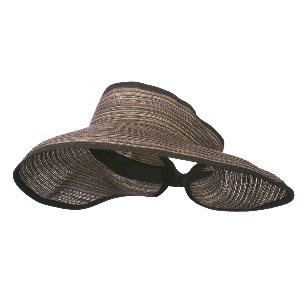 UPF 40+ Metallic Blend Roll Up Visor - Brown Black