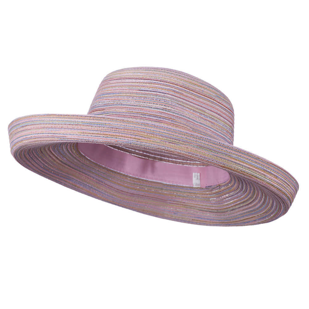 Metallic Blend Kettle Brim Hat - Pink - Hats and Caps Online Shop - Hip Head Gear