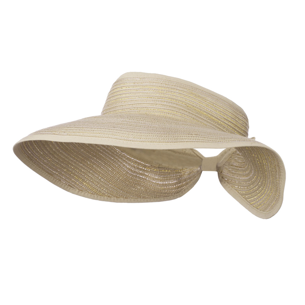UPF 40+ Metallic Blend Roll Up Visor - Natural Yellow