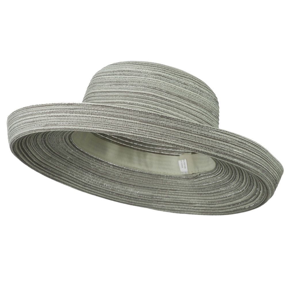 Metallic Blend Kettle Brim Hat - Silver - Hats and Caps Online Shop - Hip Head Gear
