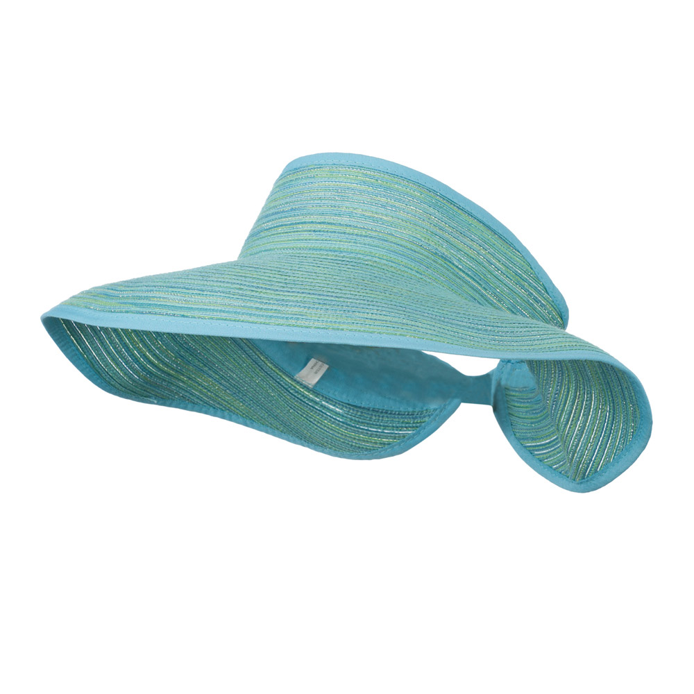 UPF 40+ Metallic Blend Roll Up Visor - Aqua Green - Hats and Caps Online Shop - Hip Head Gear