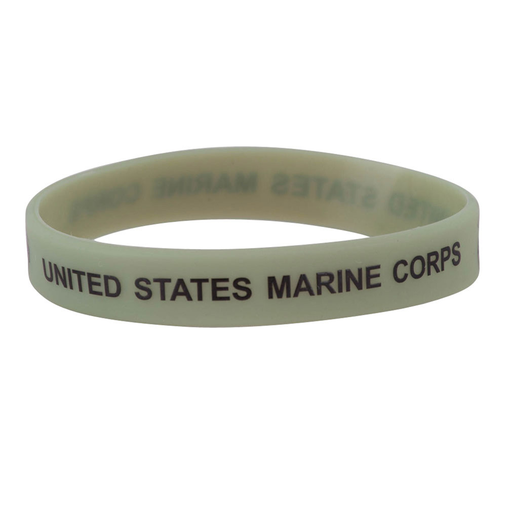 Marine Corps Silicone Wristband - Olive - Hats and Caps Online Shop - Hip Head Gear