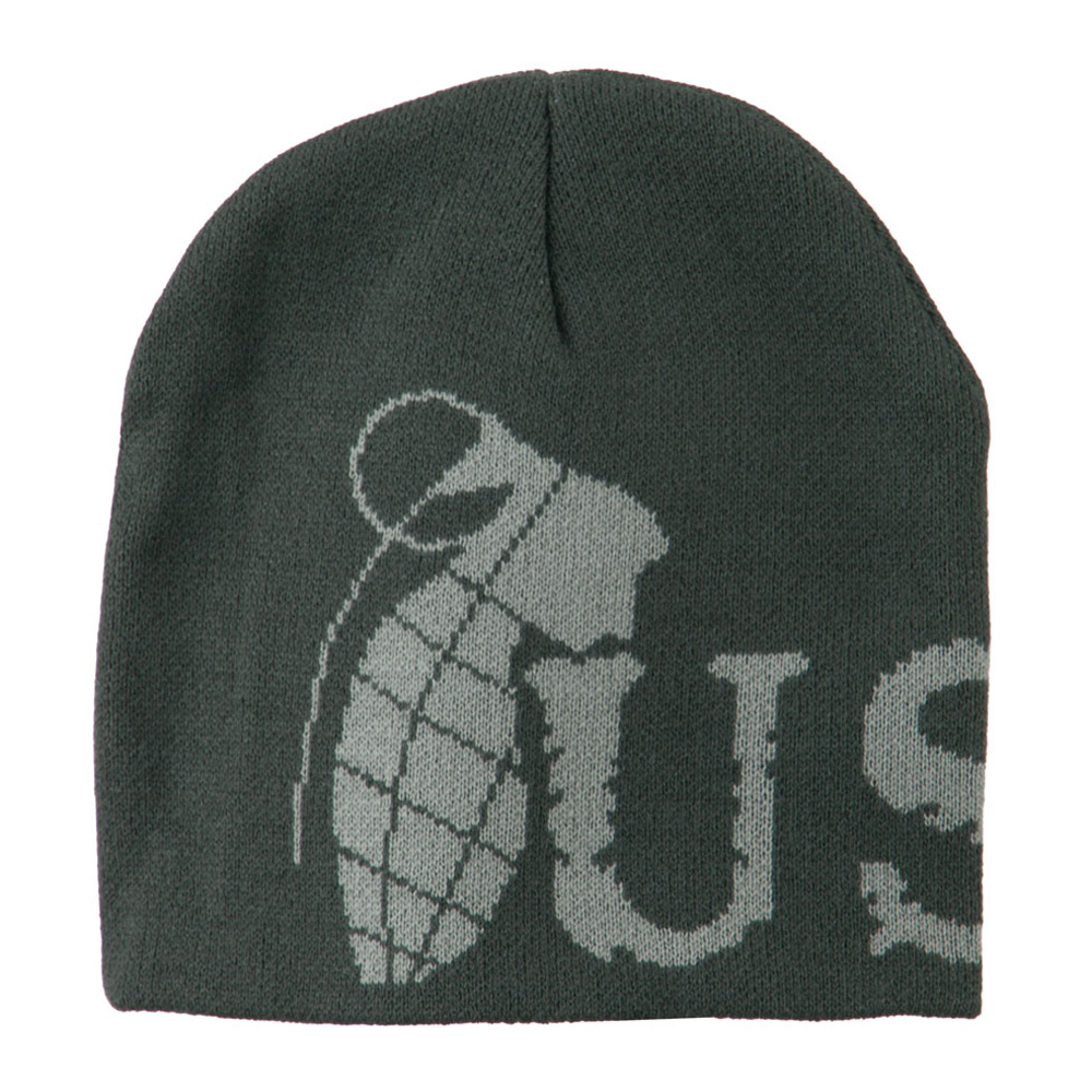 Marine Corps Woven Knit Military Beanie - Charcoal - Hats and Caps Online Shop - Hip Head Gear