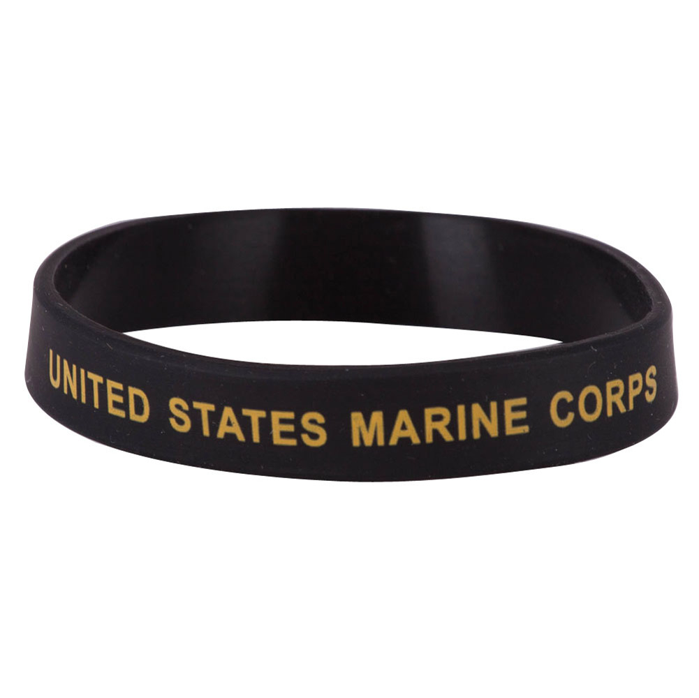 Marine Corps Silicone Wristband - Black - Hats and Caps Online Shop - Hip Head Gear
