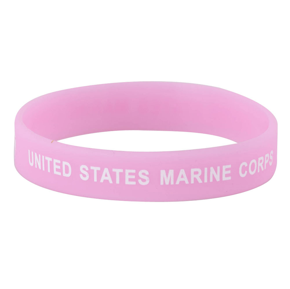 Marine Corps Silicone Wristband - Pink - Hats and Caps Online Shop - Hip Head Gear