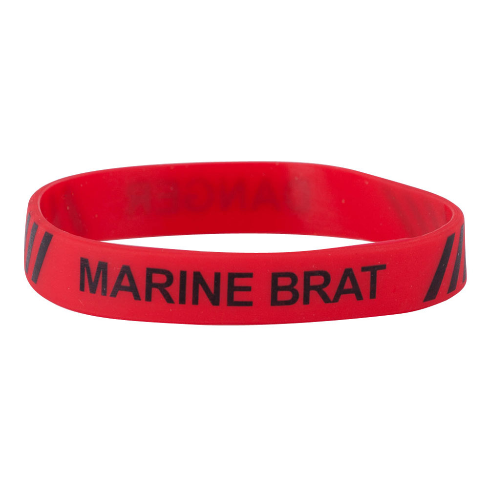 Marine Corps Silicone Wristband - Red - Hats and Caps Online Shop - Hip Head Gear