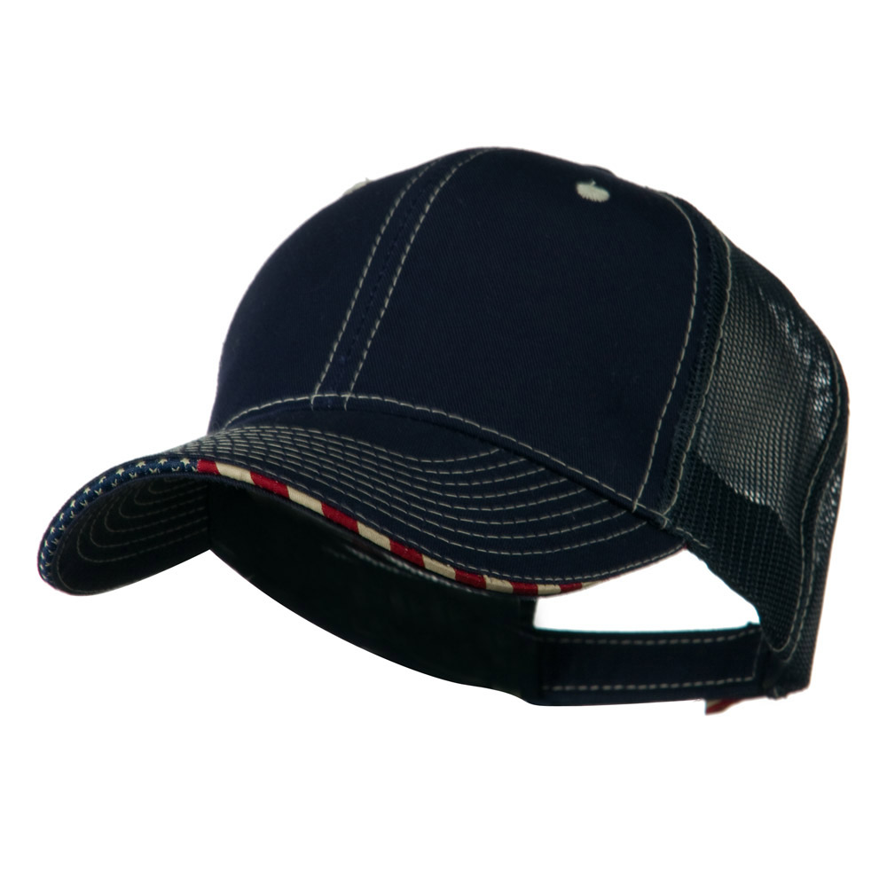 6 Panel Mesh Flag Mesh Cap - Navy - Hats and Caps Online Shop - Hip Head Gear