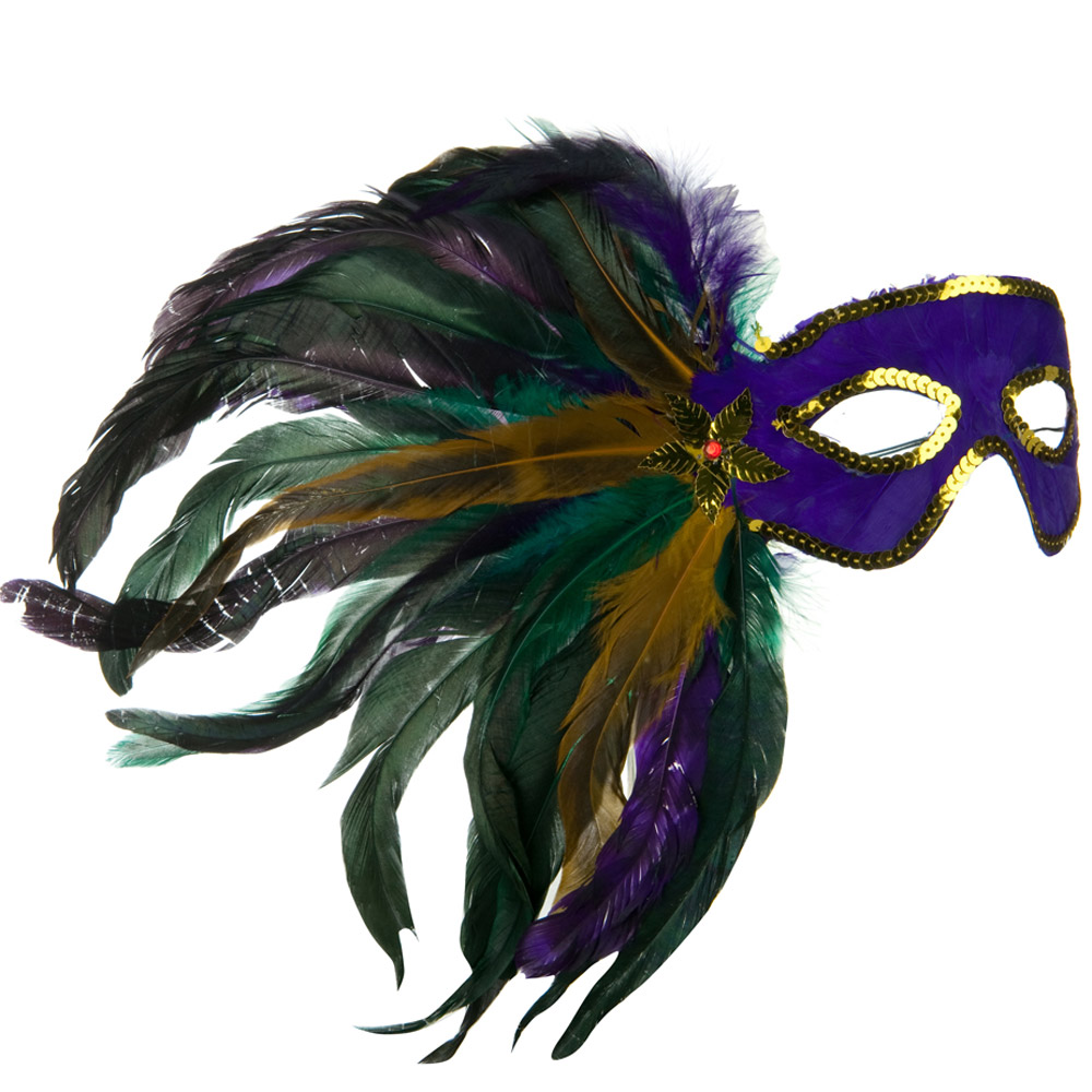 Mardi Gras Mask - Purple - Hats and Caps Online Shop - Hip Head Gear