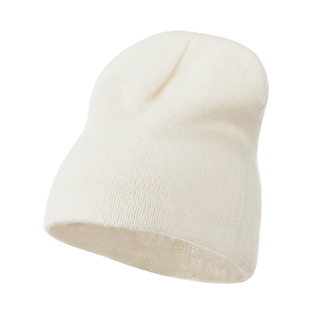 Short American Mohair Beanie - Natural - Hats and Caps Online Shop - Hip Head Gear