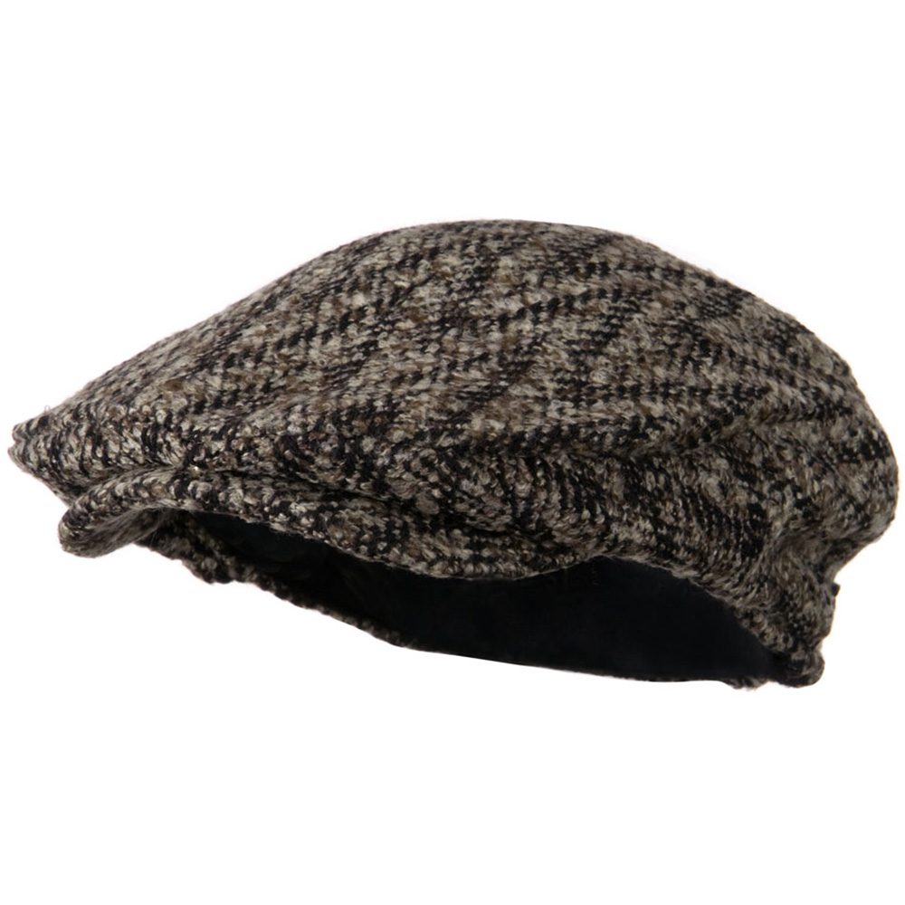 Chunky Tweed Men's Ivy Cap - Brown - Hats and Caps Online Shop - Hip Head Gear