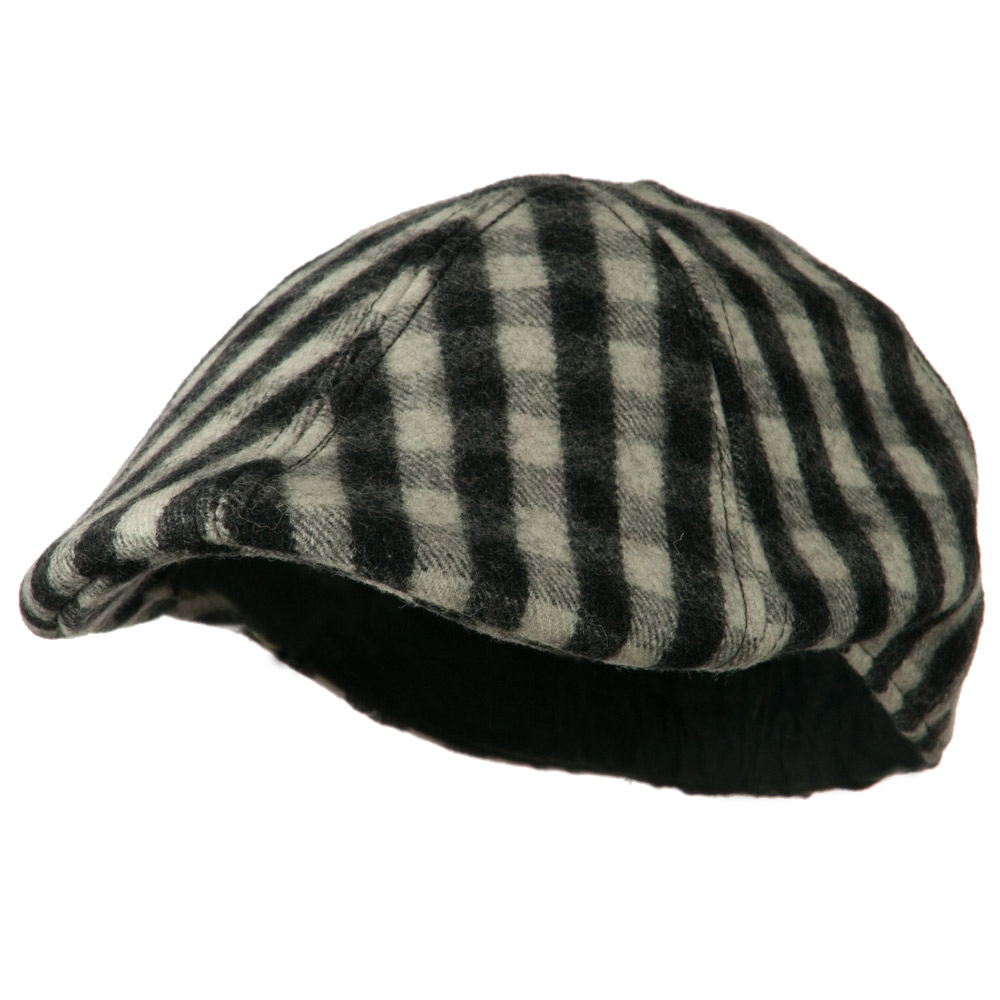 Mohair Buffalo Checker Duckbill Ivy - Black - Hats and Caps Online Shop - Hip Head Gear