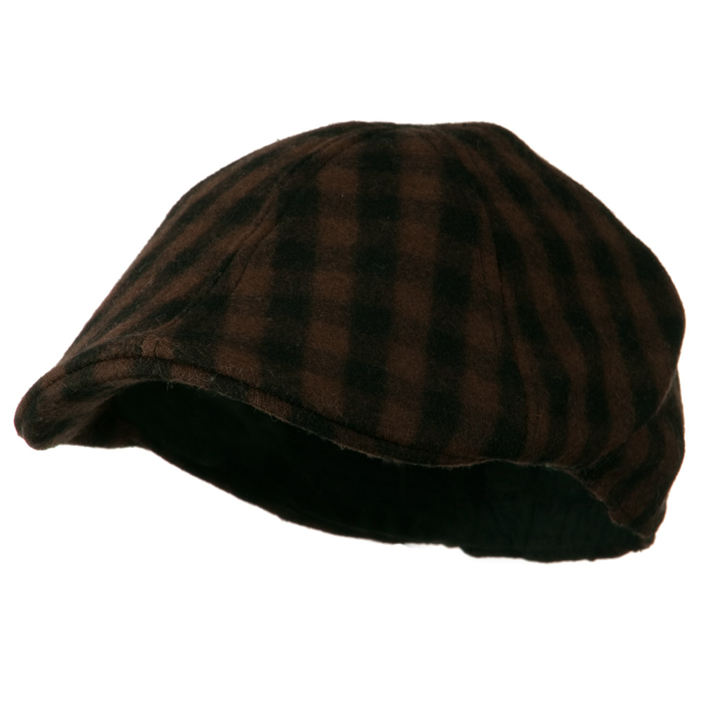 Mohair Buffalo Checker Duckbill Ivy - Brown - Hats and Caps Online Shop - Hip Head Gear