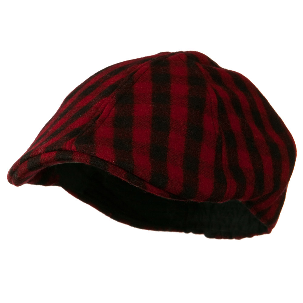 Mohair Buffalo Checker Duckbill Ivy - Red - Hats and Caps Online Shop - Hip Head Gear