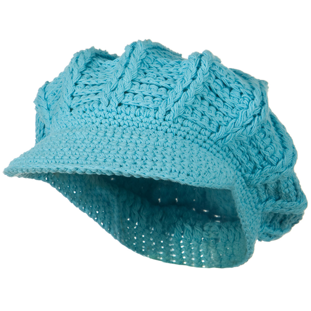 ML Knit Newsboy Hat - Light Blue - Hats and Caps Online Shop - Hip Head Gear