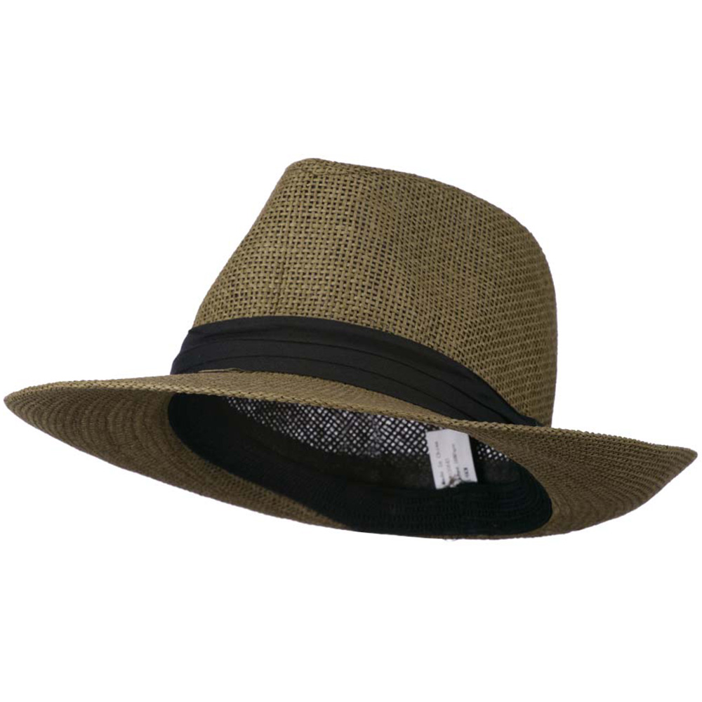 Men's Large Brim Fedora Hat - Dark Brown - Hats and Caps Online Shop - Hip Head Gear