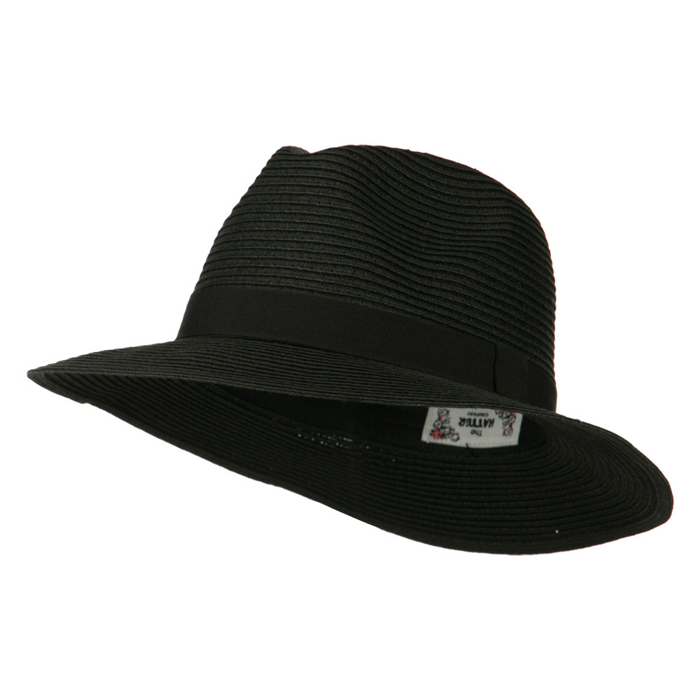 Big Brim Fedora - Black - Hats and Caps Online Shop - Hip Head Gear
