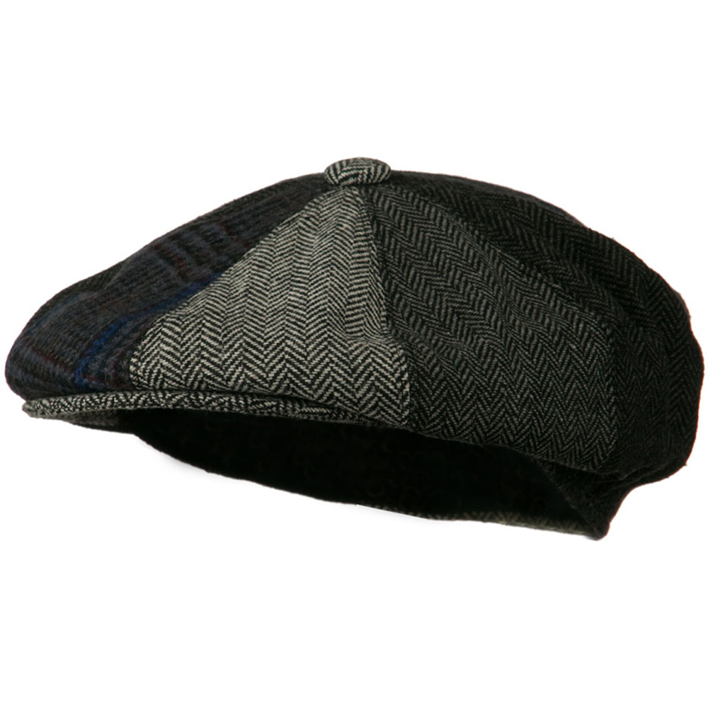 Men's Multi-tone Wool Apple Cap - Grey