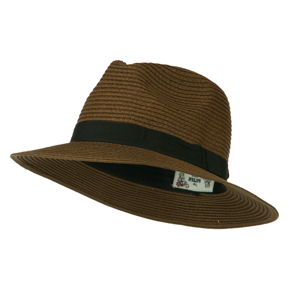 Big Brim Fedora - Brown - Hats and Caps Online Shop - Hip Head Gear