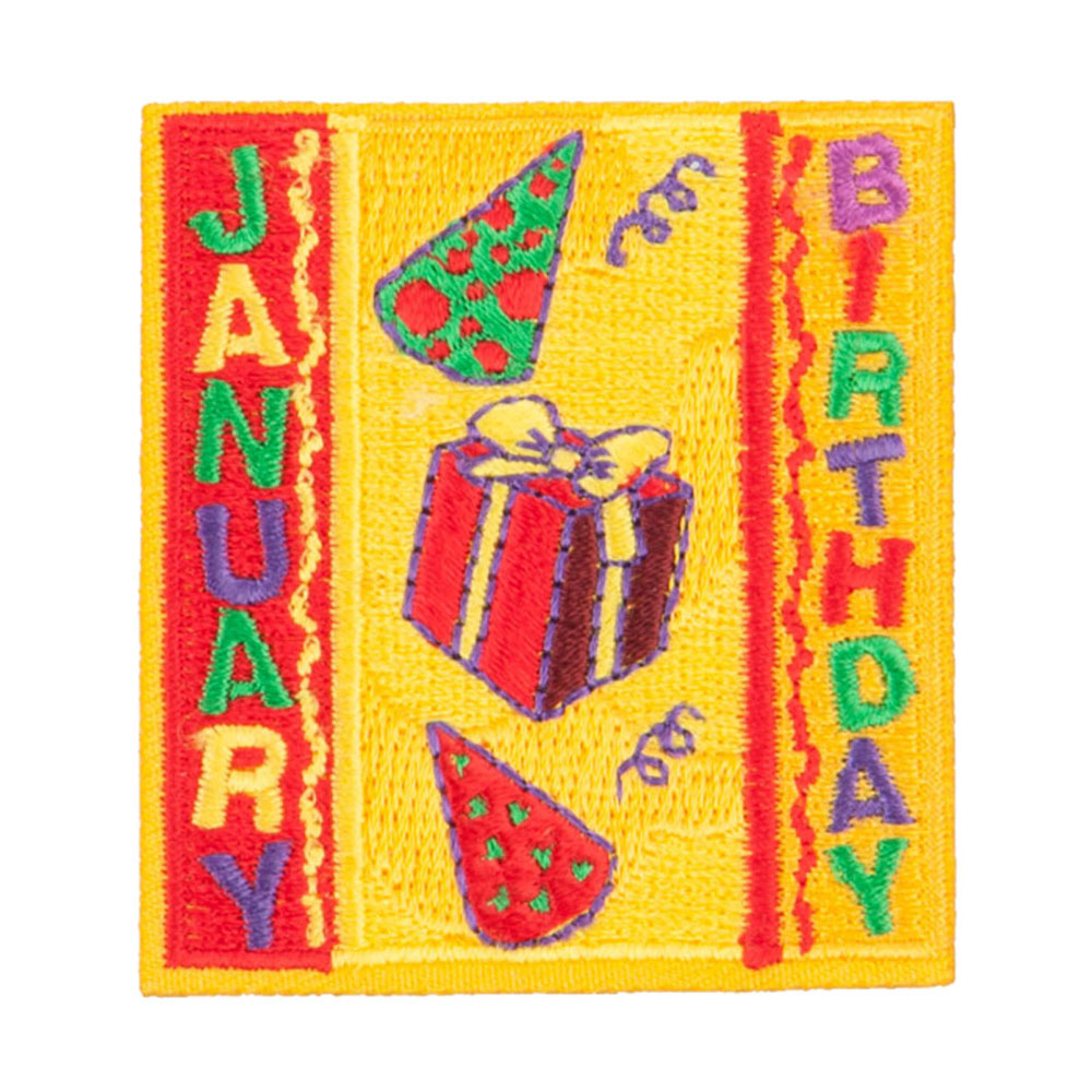 Month Birthday Patches - January