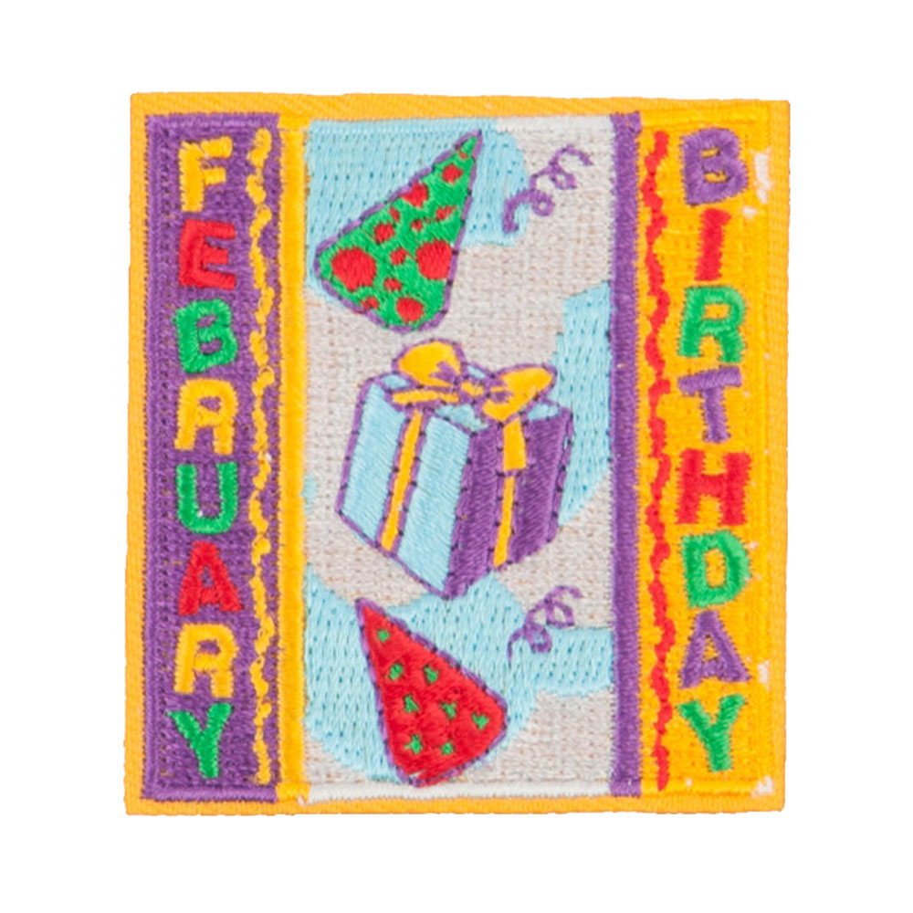 Month Birthday Patches - February