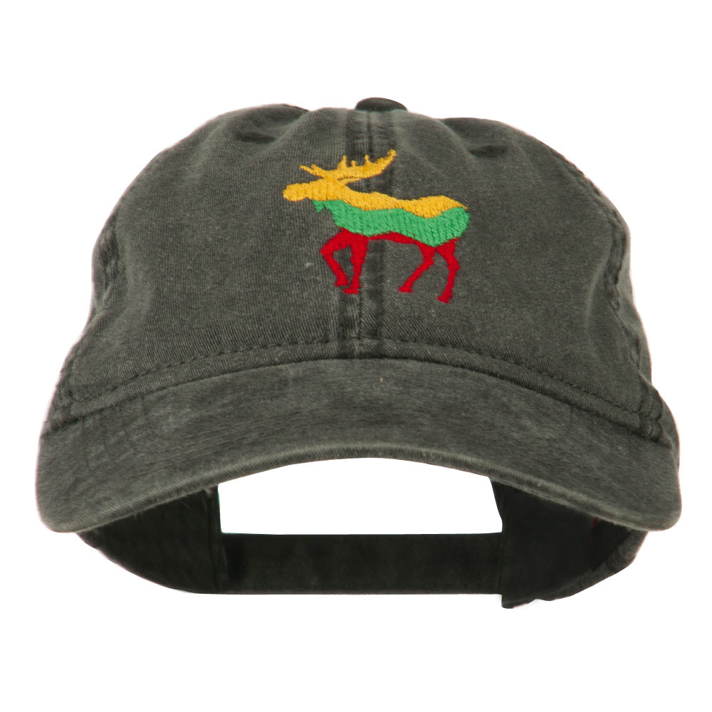 Wildlife Animal Moose Embroidered Cap - Black - Hats and Caps Online Shop - Hip Head Gear