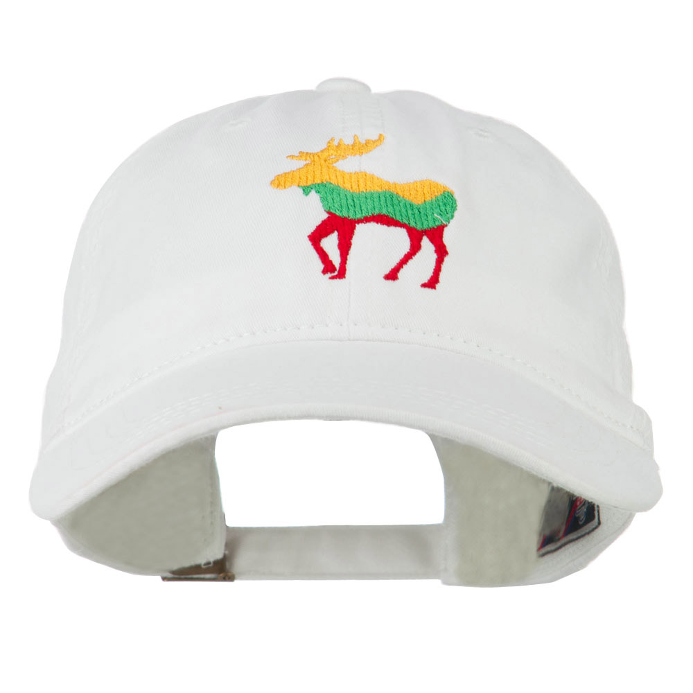 Wildlife Animal Moose Embroidered Cap - White - Hats and Caps Online Shop - Hip Head Gear