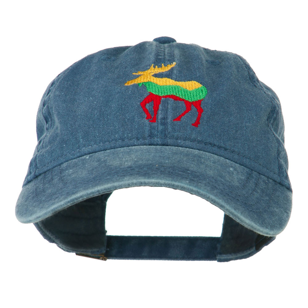 Wildlife Animal Moose Embroidered Cap - Navy - Hats and Caps Online Shop - Hip Head Gear