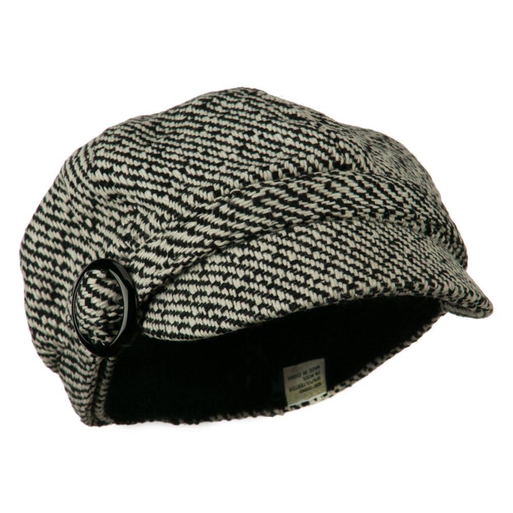 Muffy Patterned Newsboy Cap - Black - Hats and Caps Online Shop - Hip Head Gear