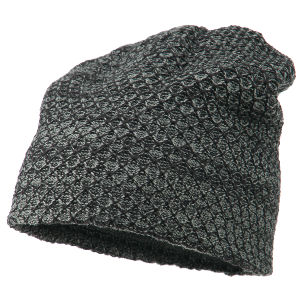 Multi Pattern Reversible Beanie - Grey