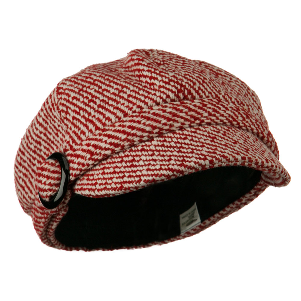 Muffy Patterned Newsboy Cap - Red - Hats and Caps Online Shop - Hip Head Gear