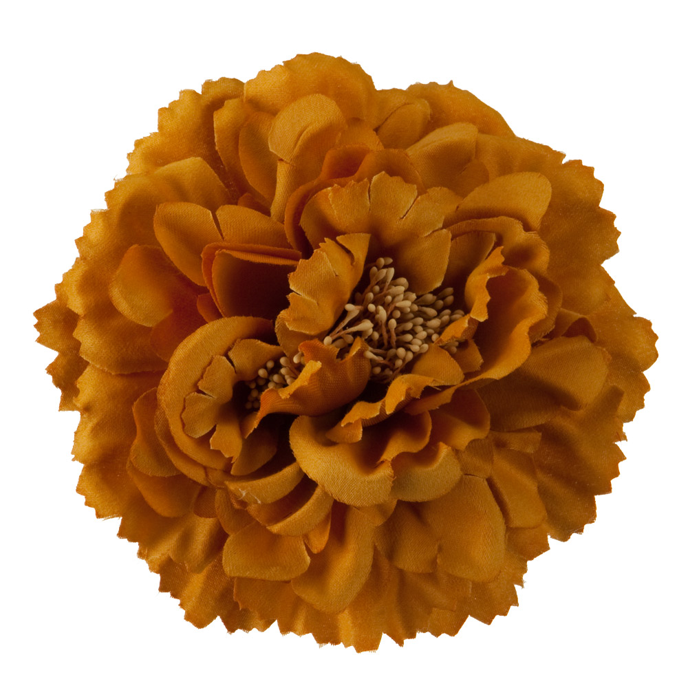 Multi Petal Flower with Pin and Clip - Mustard