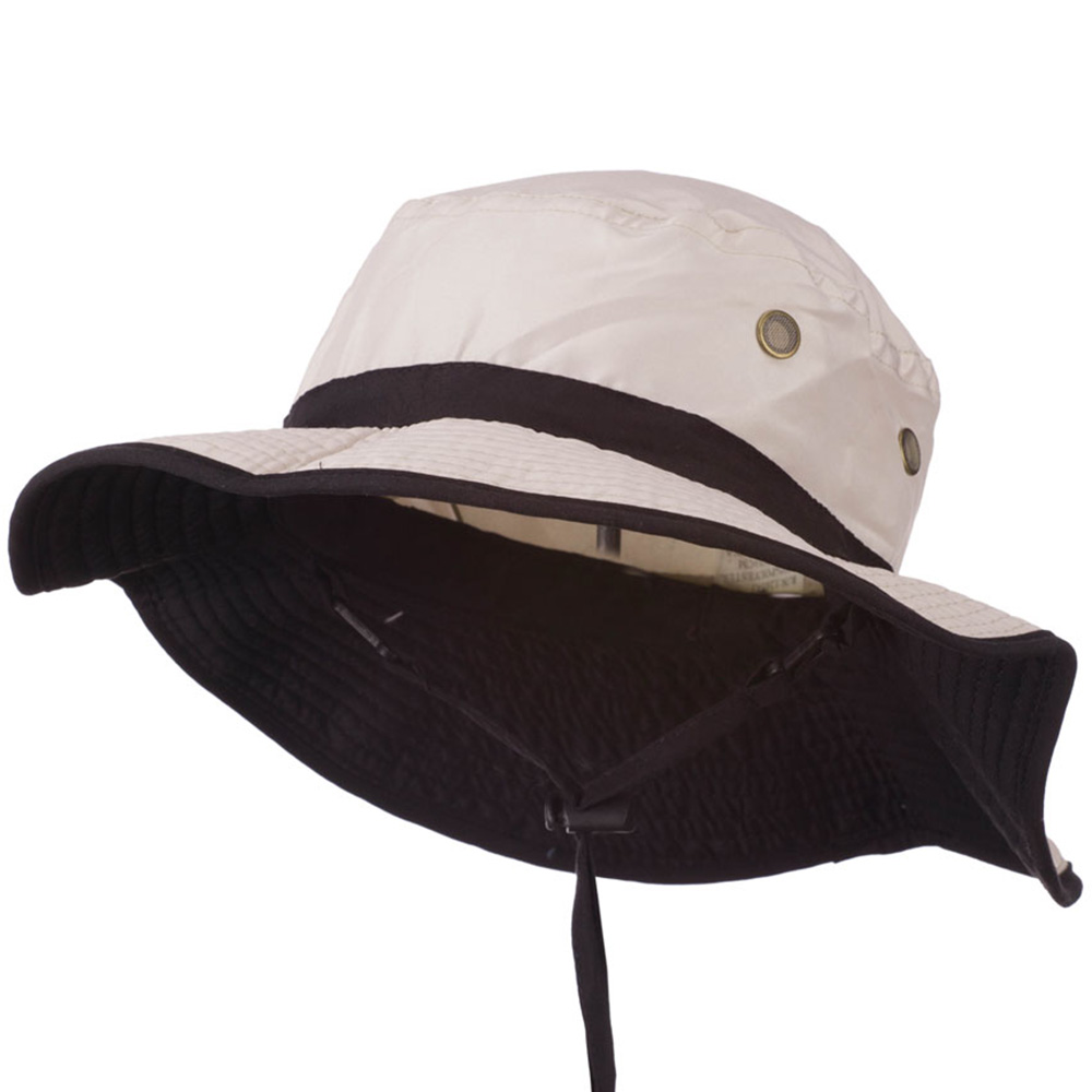 UPF 50+ Microfiber Black Band Bucket Hat - Grey - Hats and Caps Online Shop - Hip Head Gear