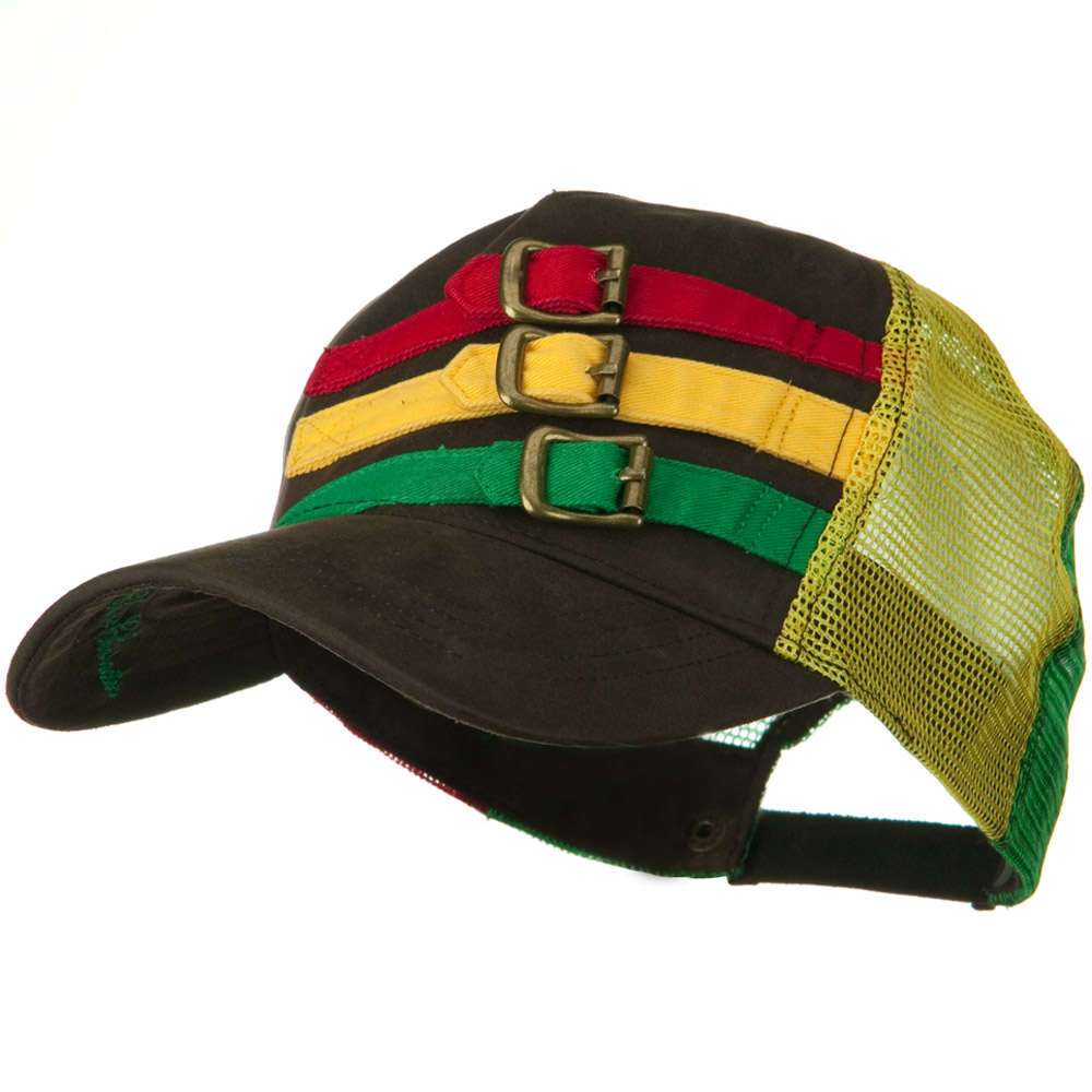 Lux Mesh Rasta Hat - Brown - Hats and Caps Online Shop - Hip Head Gear