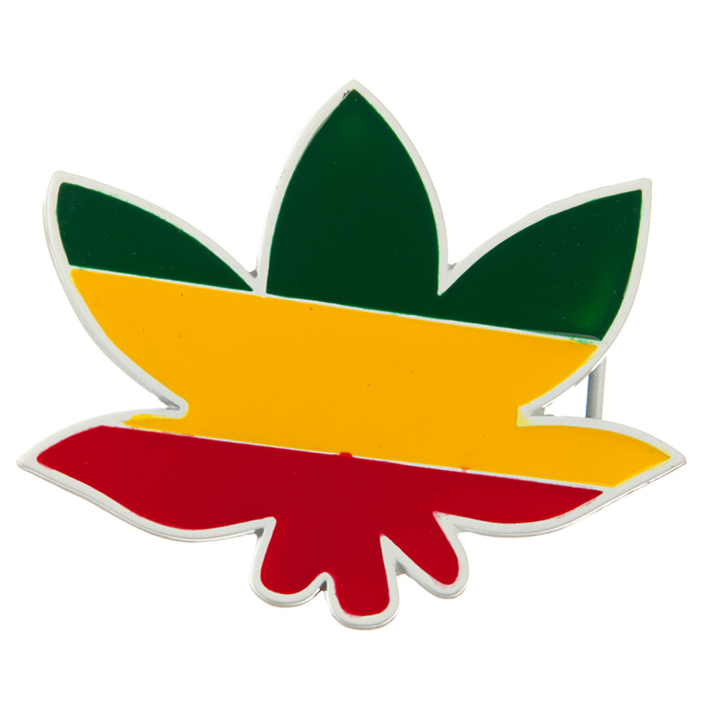 Green Yellow Red Leaf Belt Buckle - RGY