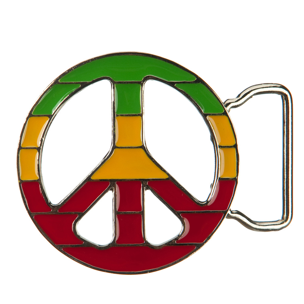 Green Yellow Red Peace Belt Buckle - RGY