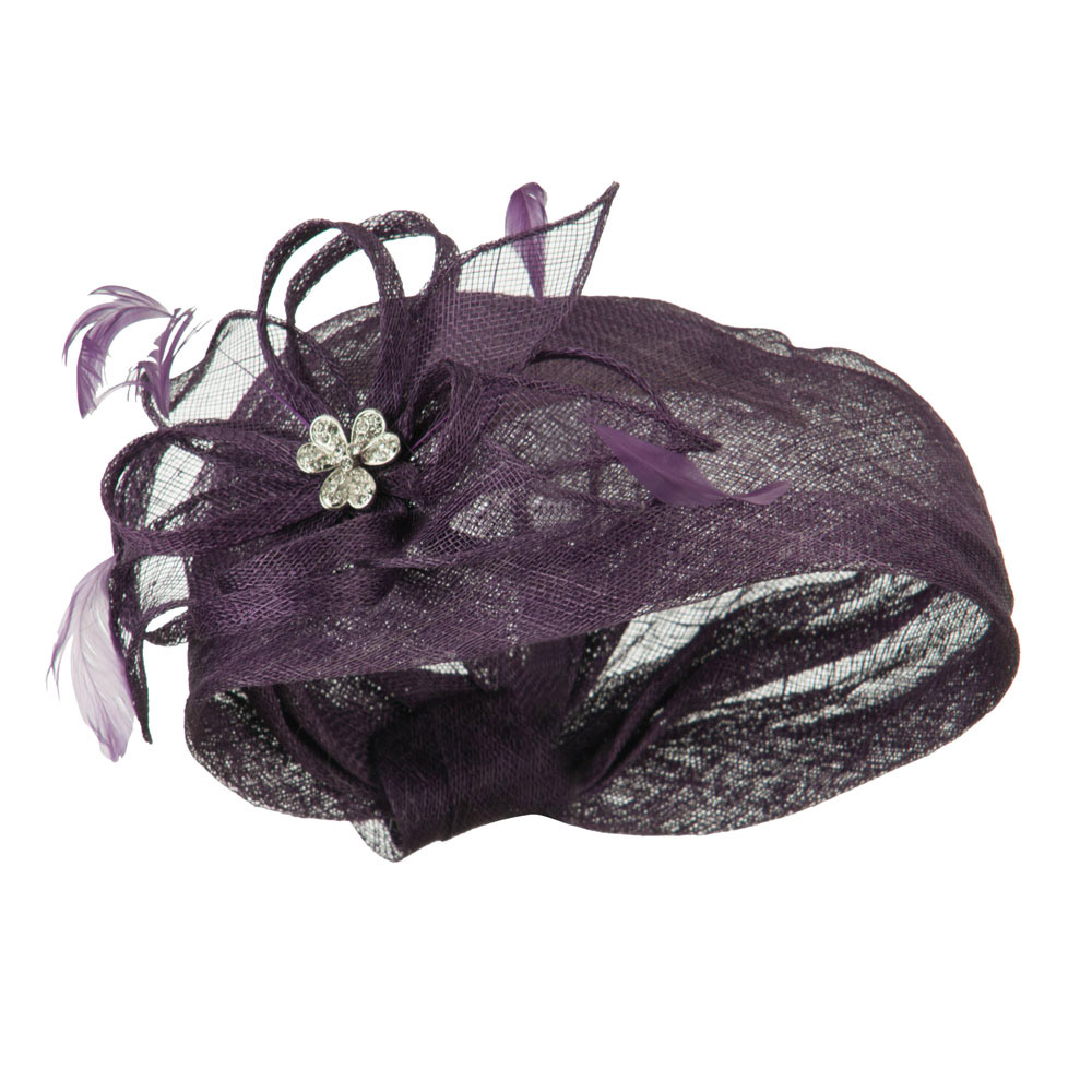 Mermaid Revised Shape Hat Fascinator - Purple - Hats and Caps Online Shop - Hip Head Gear