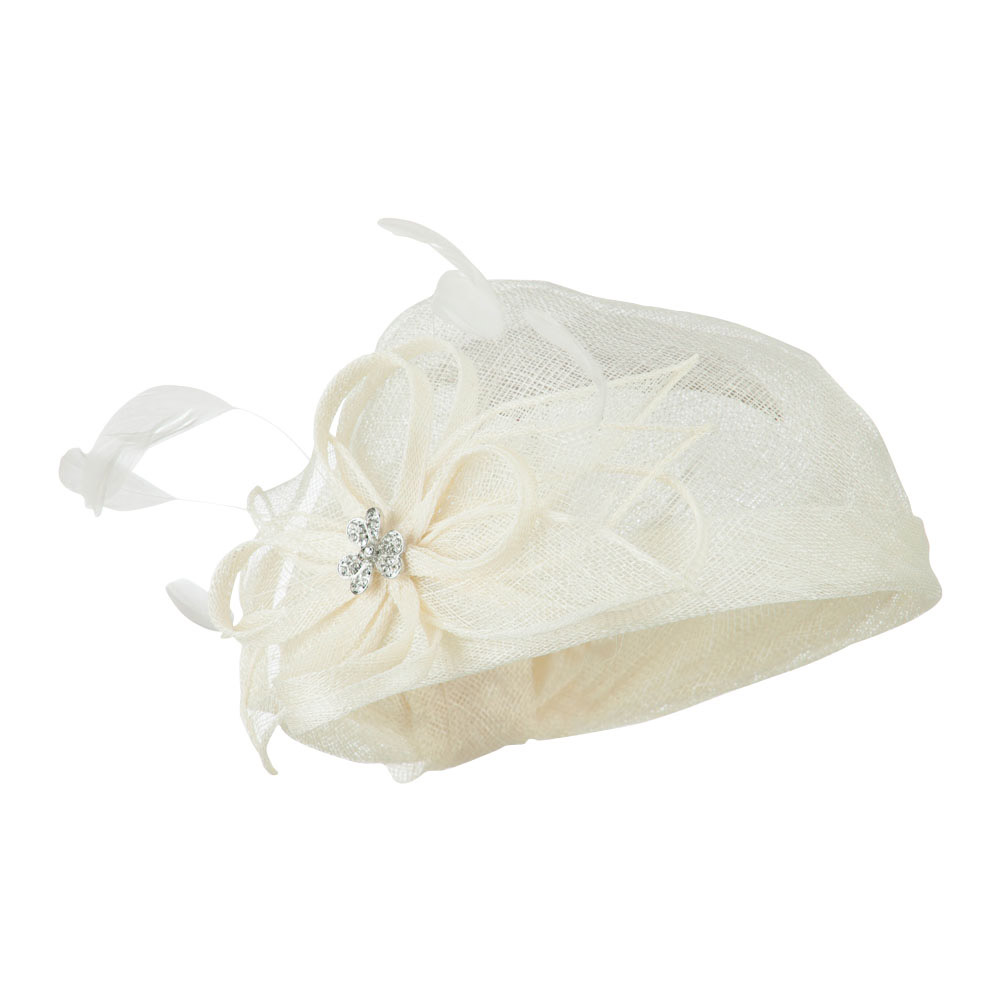 Mermaid Revised Shape Hat Fascinator - White - Hats and Caps Online Shop - Hip Head Gear