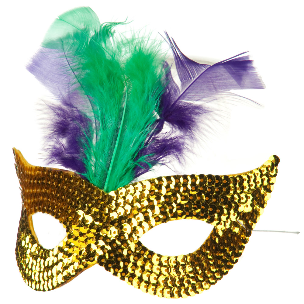 Mardi Gras Sequin Mask - Yellow - Hats and Caps Online Shop - Hip Head Gear