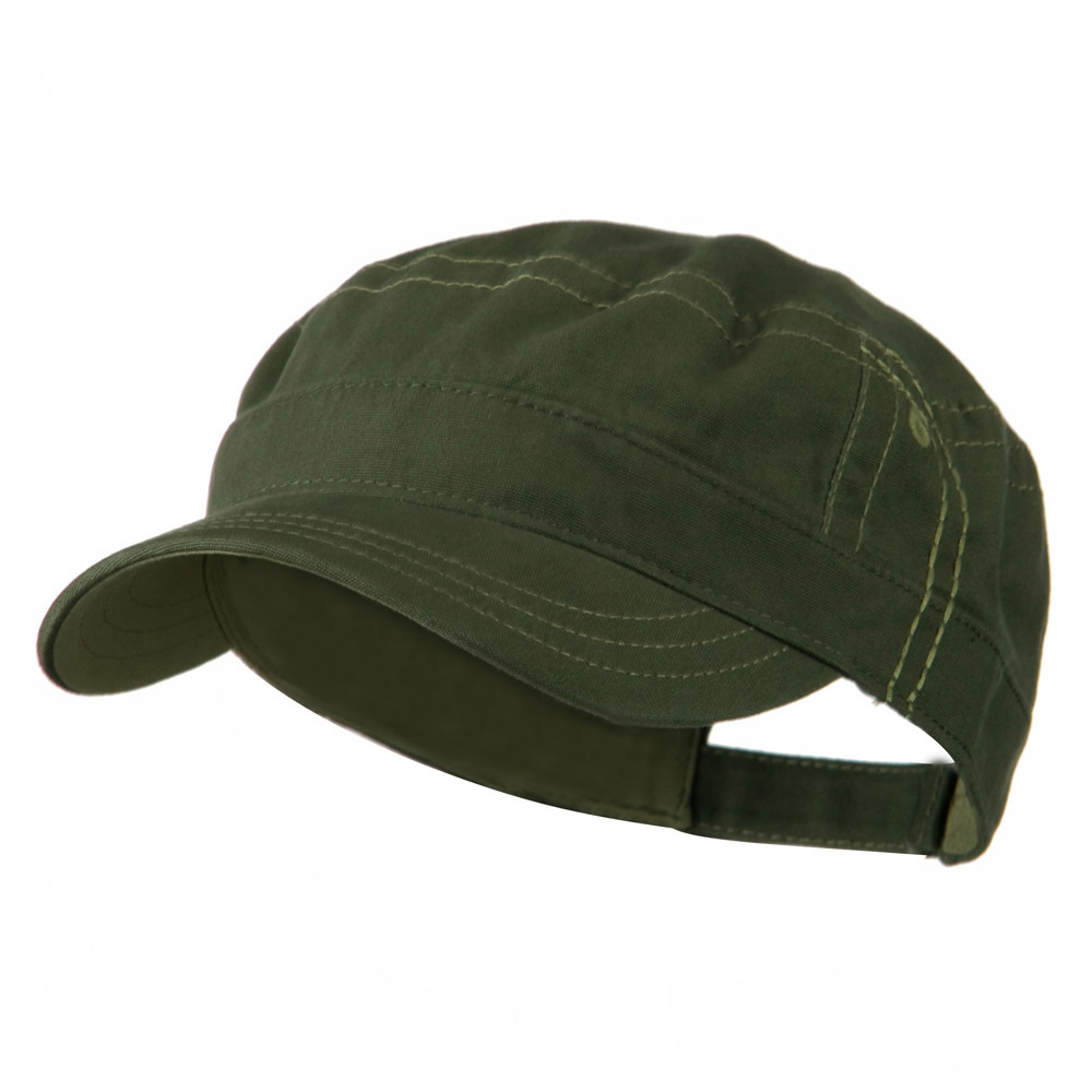 Military Shape Contrast Cap - Olive Khaki - Hats and Caps Online Shop - Hip Head Gear