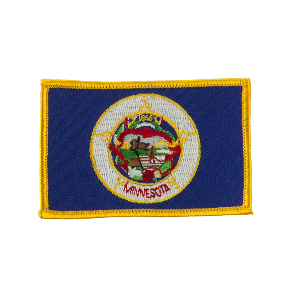 Middle State Embroidered Patches - Minnesota
